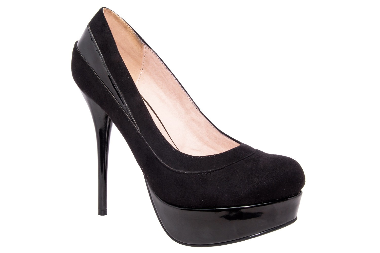 black platform party heels in small sizes by shoetastic
