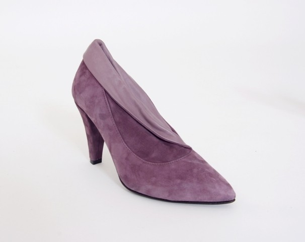 Purple Suede Ankle/Shoe Boot