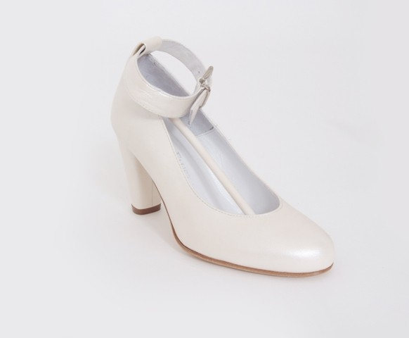 Bridal Shoe with Ankle Strap