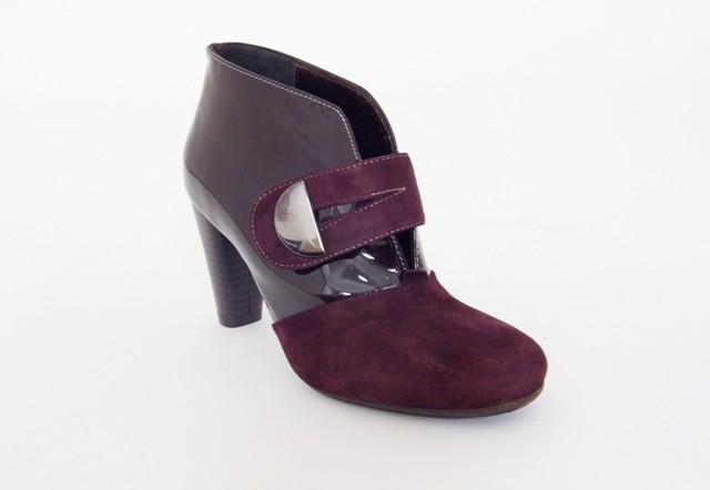 Purple Patent Ankle/Shoe Boot