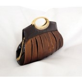 Metallic Bronze Clutch Handbag