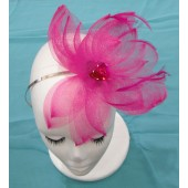 Pink bloom wedding fascinator