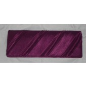 Liza Purple satin clutch bag