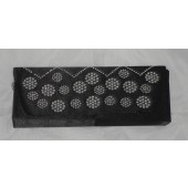 Mila black satin clutch bag